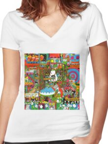 Pond Man, It Feels Like Space Again Album Art Women's Fitted V-Neck T-Shirt