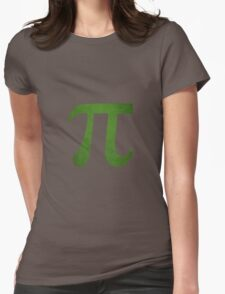 Green Pi Symbol Womens Fitted T-Shirt