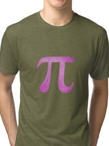 Magenta Pi Symbol Tri-blend T-Shirt