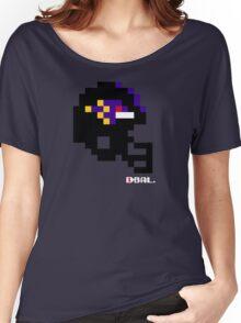 Tecmo Bowl - Baltimore - 8-bit - Mini Helmet shirt Women's Relaxed Fit T-Shirt