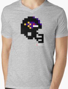 Tecmo Bowl - Baltimore - 8-bit - Mini Helmet shirt Mens V-Neck T-Shirt