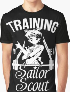 Training to be a Sailor Scout (Moon) Graphic T-Shirt