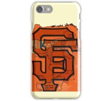 San Francisco Giants Map iPhone Case/Skin