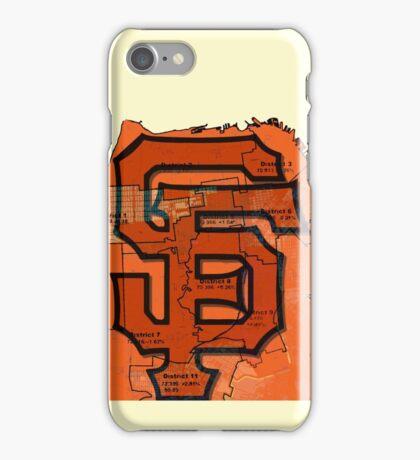 San Francisco Giants Map iPhone Case/Skin