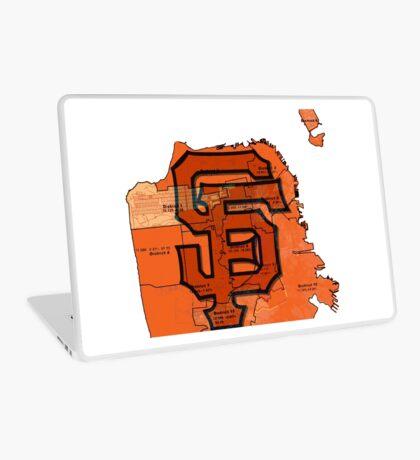 San Francisco Giants Map Laptop Skin