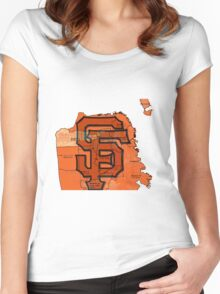San Francisco Giants Map Women's Fitted Scoop T-Shirt