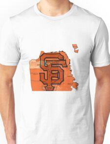 San Francisco Giants Map Unisex T-Shirt