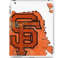 San Francisco Giants Map iPad Case/Skin