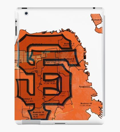 San Francisco Giants Map iPad Case/Skin
