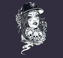old school girl Womens Fitted T-Shirt