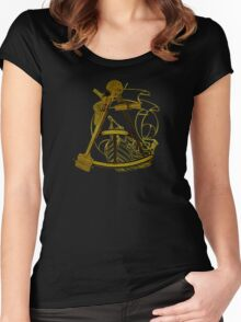 Measuring The Territory At Sea Women's Fitted Scoop T-Shirt