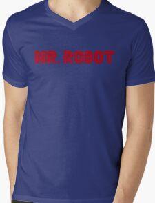 Mr. Robot Mens V-Neck T-Shirt