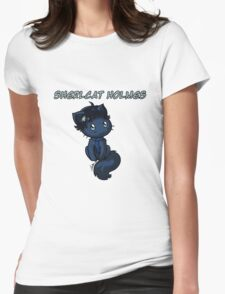Sherlcat Holmes Womens Fitted T-Shirt