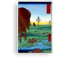 Utagawa Hiroshige Kogane Plain in Shimôsa Province Canvas Print
