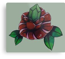 Rupee Rose Metal Print