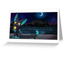 Felisneon Night Greeting Card