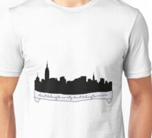 Hurricane Lyrics City Skyline Unisex T-Shirt
