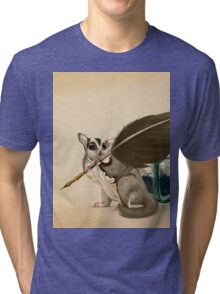 Sugar Writer // Sugar Glider painting Tri-blend T-Shirt