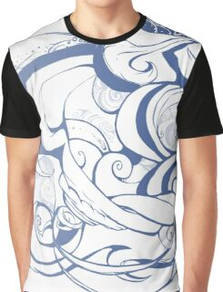 Blue Swirls  Graphic T-Shirt