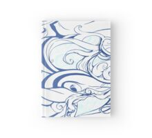 Blue Swirls  Hardcover Journal