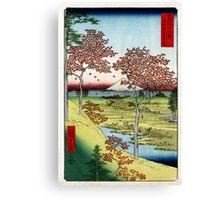 Utagawa Hiroshige Sunset Hill, Meguro in the Eastern Capital Canvas Print