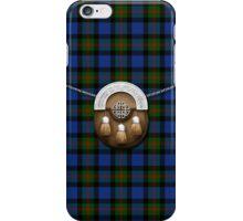 Clan Gunn Tartan And Sporran iPhone Case/Skin