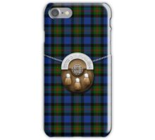 Clan Gunn Tartan And Sporran iPhone Case/Skin