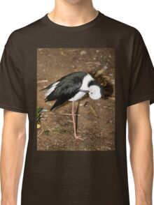 Pied Stilt Preening Classic T-Shirt