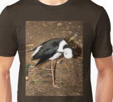 Pied Stilt Preening Unisex T-Shirt