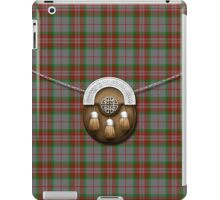 Clan Gray Tartan And Sporran iPad Case/Skin