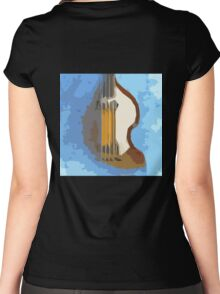 Awesome Bass, Hofner, Beatles instrument Women's Fitted Scoop T-Shirt
