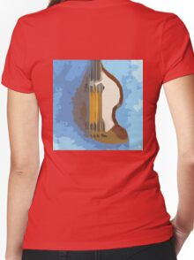 Awesome Bass, Hofner, Beatles instrument Women's Fitted V-Neck T-Shirt