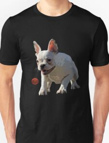 Dog playing ball Unisex T-Shirt