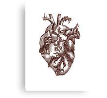 Heart Linoleum Print Canvas Print