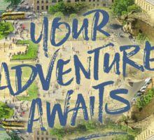 Your Adventure Awaits Notre-Dame Cathedral Gargoyle Paris Sticker