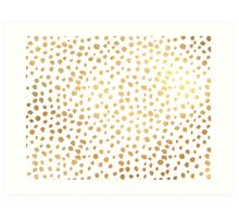 Faux Gold Sprinkles Art Print