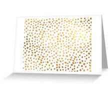 Faux Gold Sprinkles Greeting Card