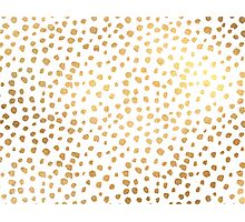 Faux Gold Sprinkles Photographic Print