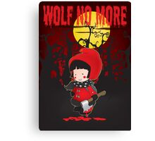 Wolf no more.Little Red Riding Hood v.2 Canvas Print