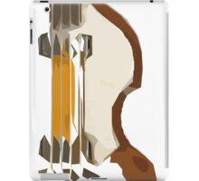 Abstract art, guitar bass green and brown iPad Case/Skin