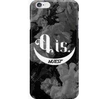 NU'EST Q IS Black and White Floral Pattern Logo iPhone and Samsung Phone Case iPhone Case/Skin