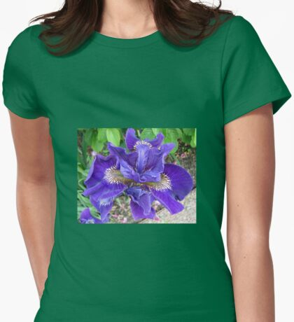 Gorgeous Purple Iris Womens Fitted T-Shirt