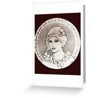 graphic art nouveau Greeting Card