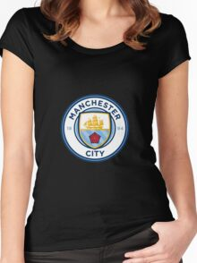 manchester city new crest Women's Fitted Scoop T-Shirt