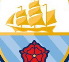 manchester city new crest Sticker