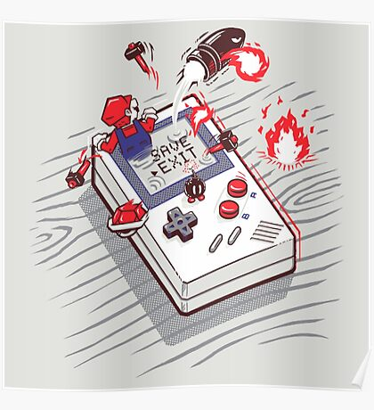 Mario - Game Boy Poster