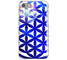 Blue Flower of Life iPhone Case/Skin