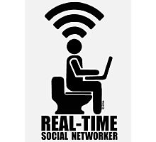 Real-time social networker Photographic Print