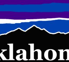Oklahoma Midnight Mountains Sticker