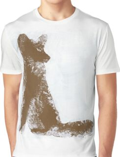 Brown Finger Painted Arctic Fox Graphic T-Shirt